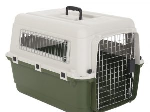 Feria Plastic Transport Crate for Dogs, Size 5: 80x56x59cm (LxWxH)