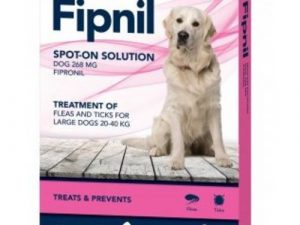 Fipnil Flea & Tick Spot On Solution for Dogs Large Dog 20-40kg x 3 Pipettes NFA-D