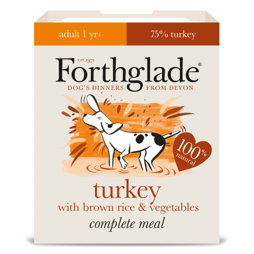 Forthglade Complete Turkey with Brown Rice & Veg Adult Dog Food 395g x 36
