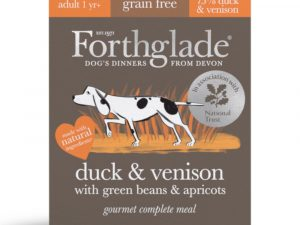 Duck & Venison with Green Beans & Apricot Grain-Free Gourmet Forthglade Wet Dog Food