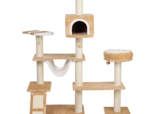 Dark Brown Gingerbread House Cat Tree with Ladder