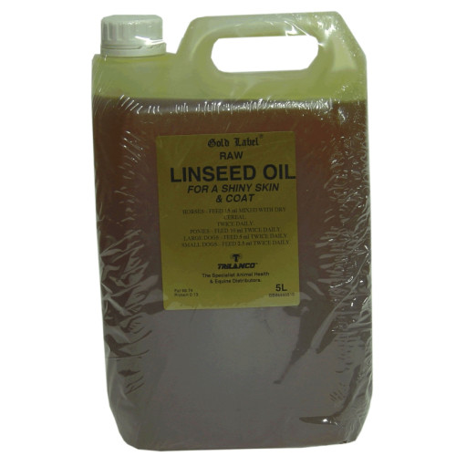 Gold Label Linseed Oil Horse Supplement 5 Litres