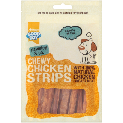 Good Boy Pawsley & Co Chewy Chicken Strips Dog Treats 100g x 10 Saver Deal
