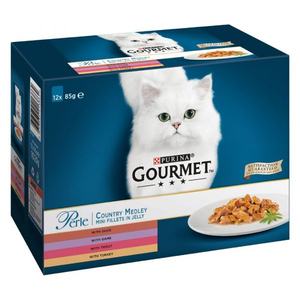 Gourmet Perle Country Medley in Jelly Wet Cat Food