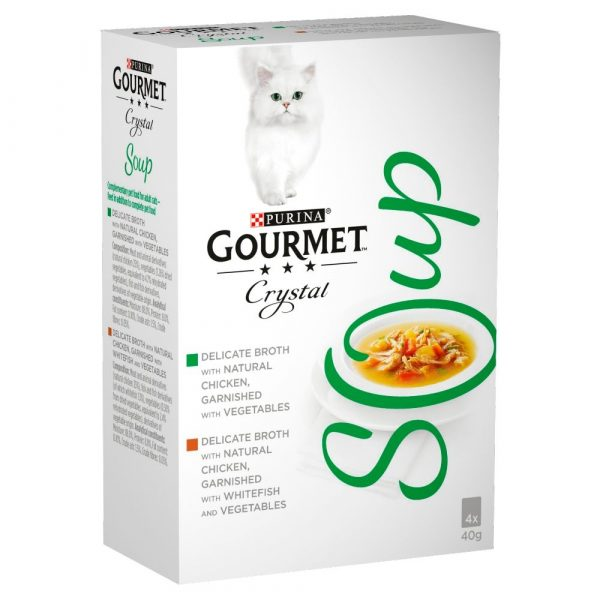 Gourmet Soup Tuna & Anchovies Wet Cat Food