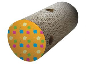 Happy Pet Scratch and Roll Cat Toy with Catnip