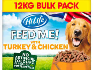 HiLife FEED ME! Turkey & Chicken flavoured with Bacon Adult Dog Food 12kg