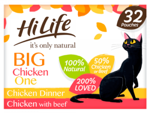 HiLife Its Only Natural Chicken Selection in Jelly Adult Cat Food 70g x 32