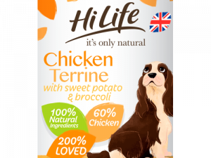 HiLife Its Only Natural Chicken Terrine Wet Adult Dog Food 395g x 24