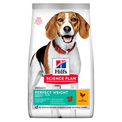 Hill's Science Plan Canine Adult Perfect Weight Medium 12kg x 2