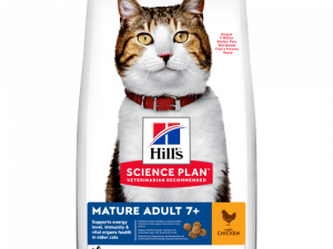 Hills Science Plan Chicken Mature Adult 7+ Dry Cat Food 10kg x 2