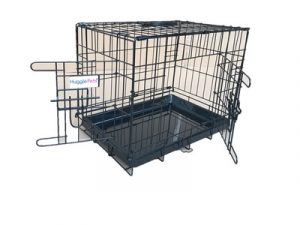 HugglePets Dog Cage with Plastic Tray