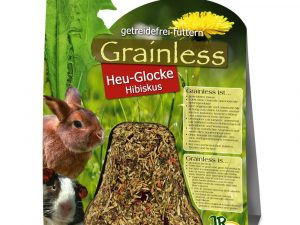 JR Farm Grainless Hay Bell Hibiscus - Double Pack: 2 x 1 piece