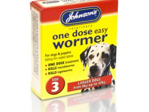 Johnsons Veterinary One Dose Wormer Size 3 - Larger Dogs & Larger Puppies 6-40kg