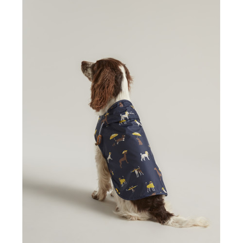 Joules Water-resistant Dog Raincoat in Navy Small 35cm