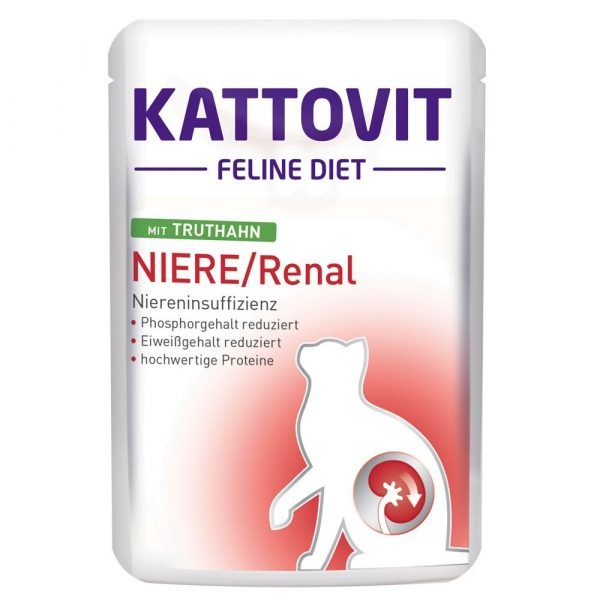 Kattovit Renal Beef Pouches Wet Cat Food