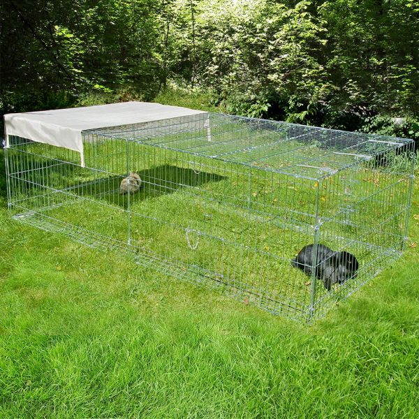 Kerbl Metal Run with Escape Barrier