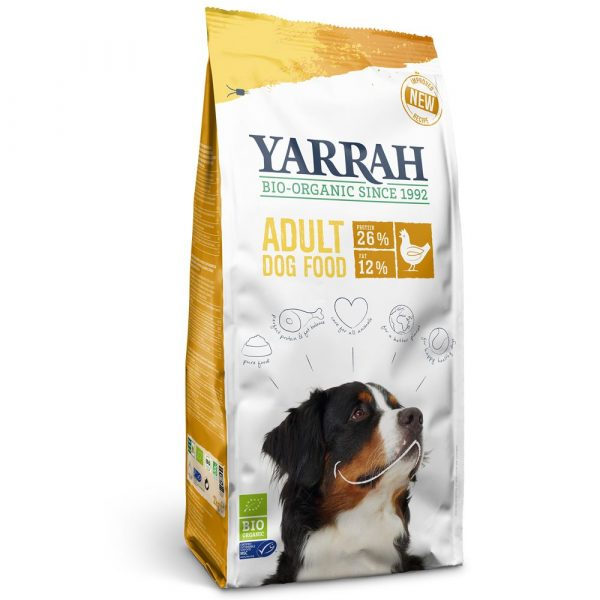 Large Bags Yarrah Organic Dry Dog Food - 15% OFF! - Sensitive with Chicken & Rice (10kg)