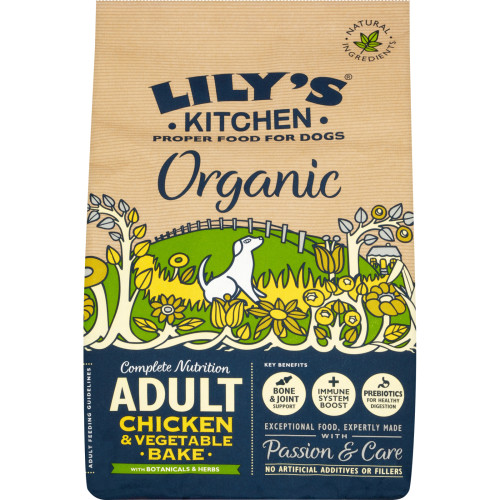 Lilys Kitchen Organic Chicken & Vegetable Bake Complete Dry Food for Dogs 1kg