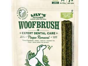 Lilys Kitchen Woofbrush Dental Chews for Dogs Large Dog x 28 Chew SAVER PACK