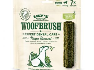 Lilys Kitchen Woofbrush Dental Chews for Dogs Medium Dog x 35 Chew SAVER PACK