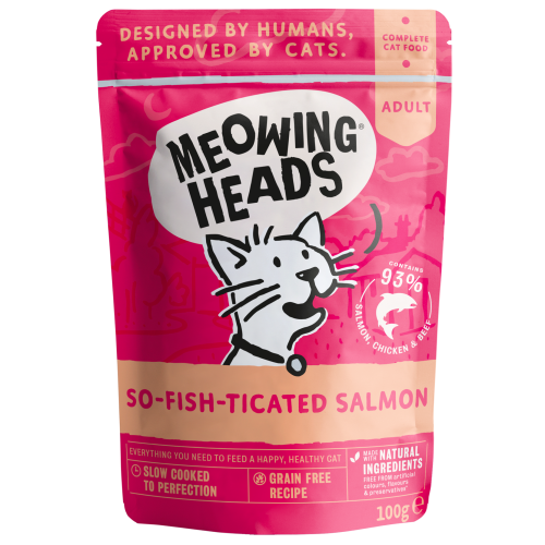 Meowing Heads So-Fish-Ticated Salmon Wet Cat Food 100g x 50