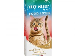 Mixed Pack Food Lover Chunks in Gravy My Star Wet Cat Food