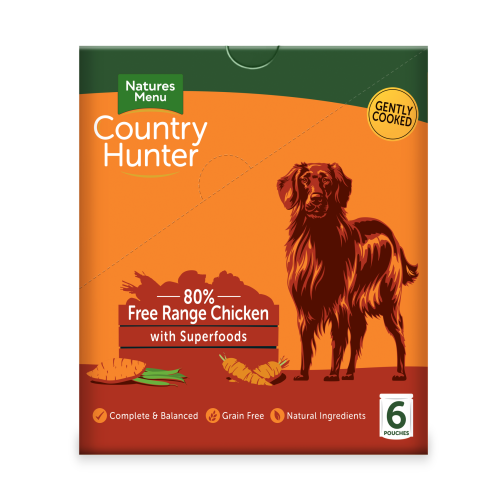 Natures Menu Country Hunter Chicken Pouch Adult Dog Food 150g x 54