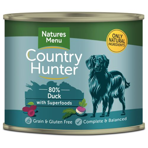 Natures Menu Country Hunter Duck Adult Dog Food Cans 600g x 6