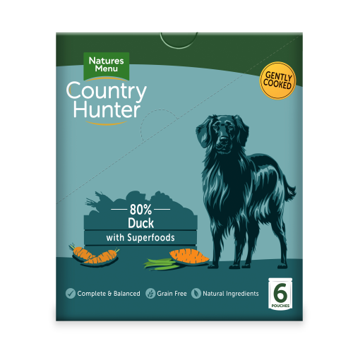Natures Menu Country Hunter Duck Pouches Adult Dog Food 150g x 54
