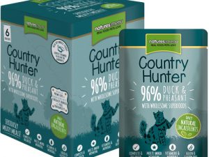 Natures Menu Country Hunter Duck & Pheasant Adult Cat Food Pouches 85g x 54