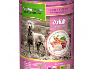 Natures Menu Lamb & Chicken with Veg Adult Dog Food Cans 400g x 12