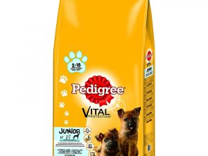 48 x 100g Pedigree Pouches + 15kg Pedigree Dry Dog Food - Special Bundle!* - Junior Multipack in Jelly (48 x 100g) + Junior Maxi Chicken & Rice (15kg)
