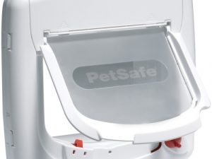 PetSafe Staywell Magnetic 4 Way Locking Deluxe Cat Flap White