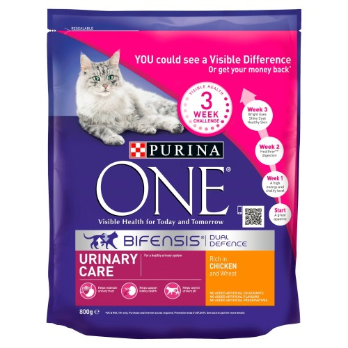 Purina ONE Chicken Urinary Care Adult Cat Food 800g x 8
