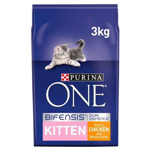 Purina ONE Chicken & Whole Grains Junior Cat Food 3kg x 3