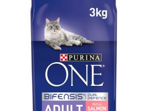 Purina ONE Salmon & Whole Grains Adult Cat Food 3kg x 3