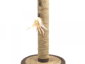Rosewood Natural Seagrass Feather Cat Scratching Post