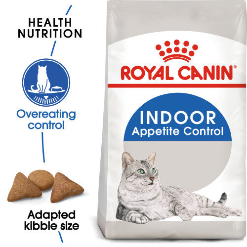 Royal Canin Indoor Appetite Control Dry Adult Cat Food 4kg x 2