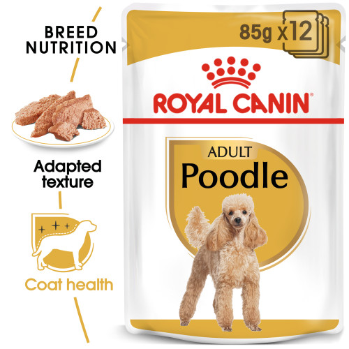 Royal Canin Poodle Wet Pouches Adult Dog Food 85g x 72