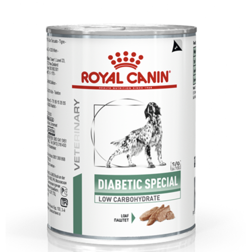 Royal Canin Veterinary Diabetic Special Low Carb Wet Dog Food 410g x 24