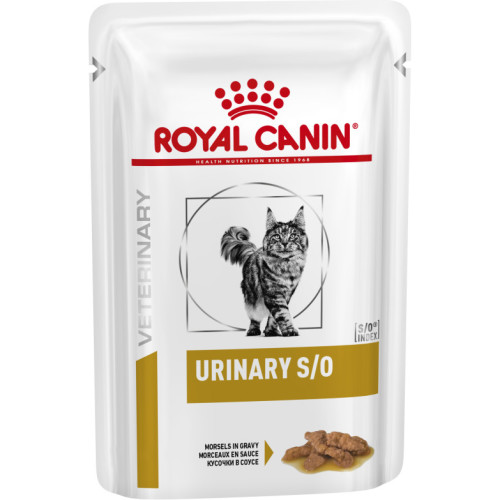 Royal Canin Veterinary Diets Urinary SO Pouches Cat Food 85g x 12 Morsels in Gravy