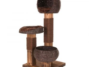 Scorched Wood Warm Brown Cat Tree