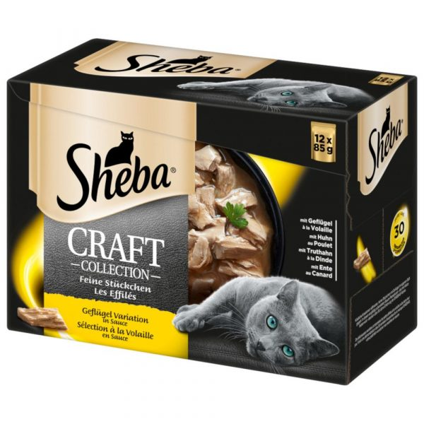 Sheba Shredded Pieces Poultry Selection in Gravy Craft Collection Adult Wet Cat Food