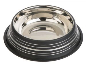 Silver Line Stainless Steel Cat Bowl – Black - 0.20 litre