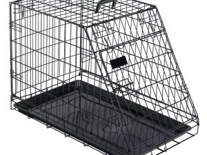 Sloping Transport Cage: 93.5x57.5x65cm Metal Dog Cages & Crates