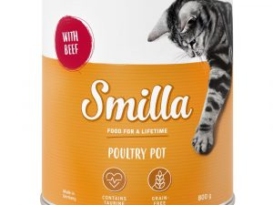 6x800g Tender Poultry with Beef Smilla Wet Cat Food