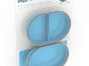 SureFeed Bowl & Mat Accessory Pack for SureFeed Microchip Feeder Blue
