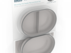 SureFeed Bowl & Mat Accessory Pack for SureFeed Microchip Feeder Grey