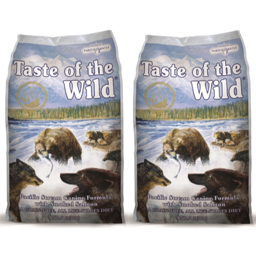 Taste Of The Wild Pacific Stream Smoked Salmon Adult Dog Food 12.2kg x 2